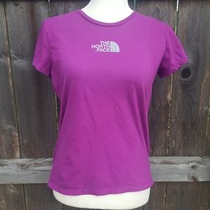 The North Face Casual Short Sleeve Purple Tee M